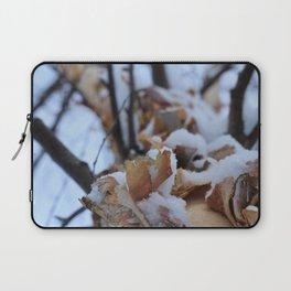 Snowy Birch Tree Laptop Sleeve