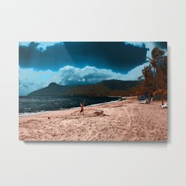 Hand Stand on misty shores at Hamilton Island Metal Print