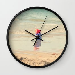 Sand pail reflections Wall Clock