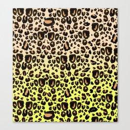 Neon leopard Canvas Print