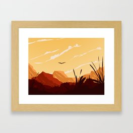 West Texas Landscape Framed Art Print