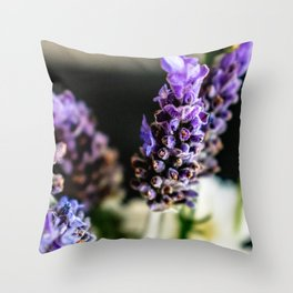 Peaceful Lavender Throw Pillow