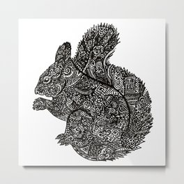 Complex Squirell Metal Print