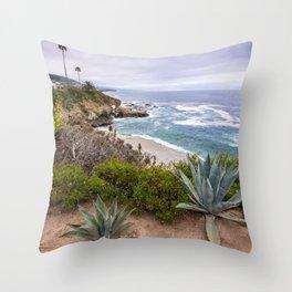 View from cliffs in Laguna Beach, CA Throw Pillow