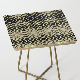 Tribal Gold Glam Side Table