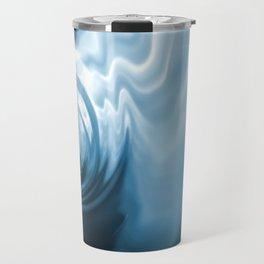 Blue Liquid Water Whirlpool Abstract Graphic Travel Mug