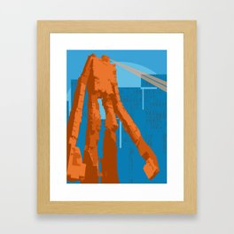 Slice (Blue) Framed Art Print