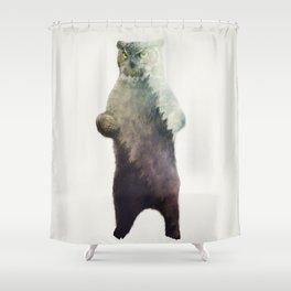 Owlbear in Forest Shower Curtain