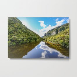 Reflection of green hills Metal Print
