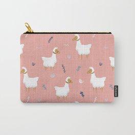 Fancy llamas pattern Carry-All Pouch