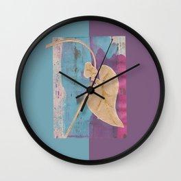 Blossom Leaf Collage Wall Clock