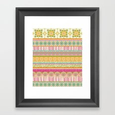 Candy Stripes Framed Art Print