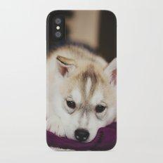 husky puppy. iPhone X Slim Case