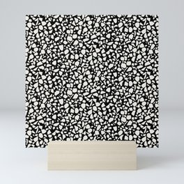 terrazzo-ivory on black Mini Art Print
