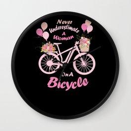Woman Bicycle E-bike Mouantainbike Cycologist bike Wall Clock