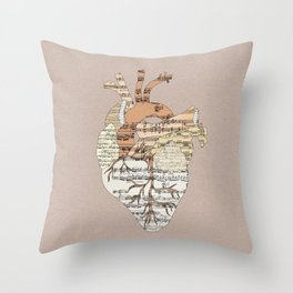 Sound Of My Heart Throw Pillow