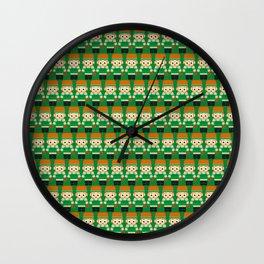 Basketball Green and White Wall Clock