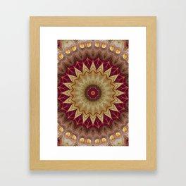 Golden Eyes Mandala Framed Art Print