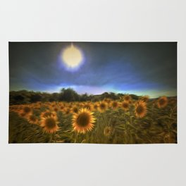 Moonlit Sunflowers Rug