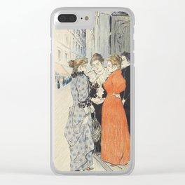 "Théophile Alexandre Steinlen ""Les rues amoureuses"" Clear iPhone Case"