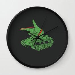 Rubber Artillery Wall Clock