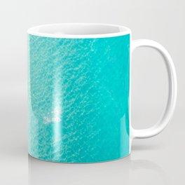 Swimming And Surfing In Manhattan Beach Coffee Mug