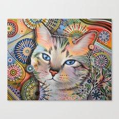 Aslan ... Abstract cat art Canvas Print