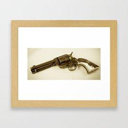 Guns Of The Old West - Colt .45, #4, Sepia Framed Art Print