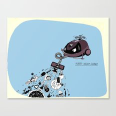 Hungry Vacuum Cleaner Canvas Print