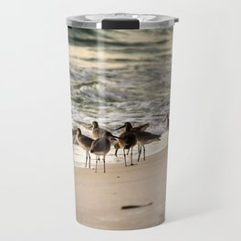 Birds on the Beach of Anna Maria Island Travel Mug