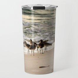 Birds on the Beach of Anna Maria Island Travel Mug
