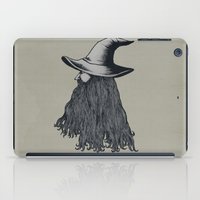 wizard iPad Cases featuring Grey Wizard by pigboom el crapo