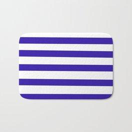 Purple and White Stripes Bath Mat