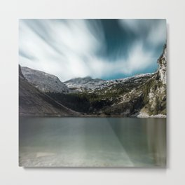 Magnificent lake Krn with mountain Krn, Slovenia Metal Print