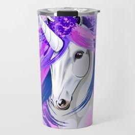 Unicorn Spirit Pink and Purple Mythical Creature Travel Mug