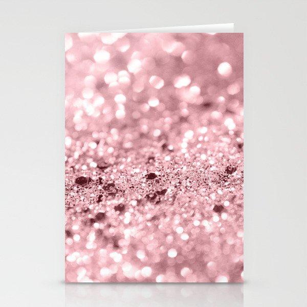 Rose Gold Blush Girls Glitter #1 #shiny #decor #art #society6 Stationery Cards