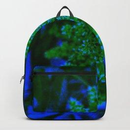 Blue and Green Sumac Bloom Backpack