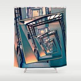 Infinite Spinning Stairs Shower Curtain
