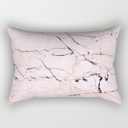 Light pink marble detail Rectangular Pillow
