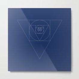 Shapeception (blue) Metal Print