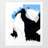 kuroko Art Prints featuring Phantom Kuroko by Kellie Anne