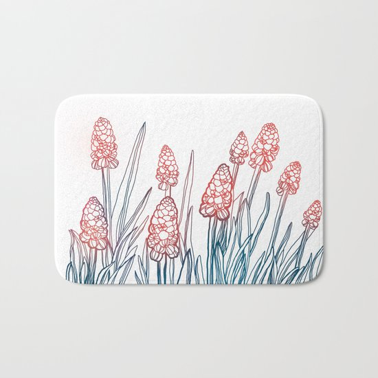 Hyacinths Bath Mat