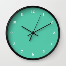 Biscay Green // Pantone 15-5718 TPX Wall Clock