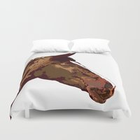horse Duvet Covers featuring horse by Temi Alli