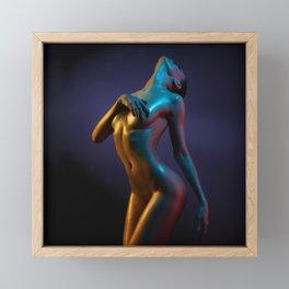 Nude Woman Bathed in Light Framed Mini Art Print