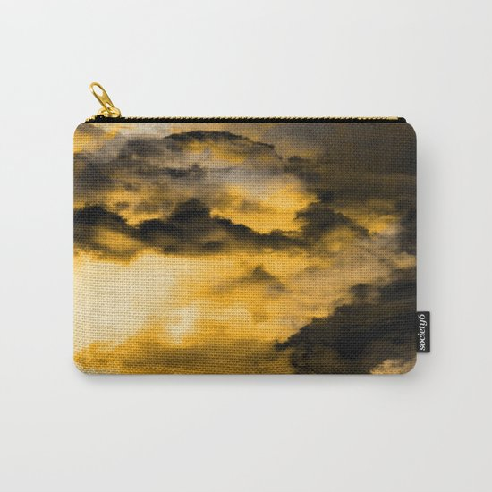 Vitality - Cloudy Abstract In Orange And Black Carry-All Pouch