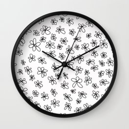 Simple Little Daisies Wall Clock