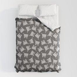 Shopping Cart Monochrome Comforters