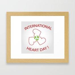 International Heart Day Framed Art Print