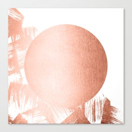 Sun Paint Swipes in Sweet Peach Shimmer Canvas Print